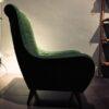 poltrona velluto verde
