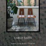 Sedute Carlo Ratti • 1950/60 Struttura in legno termo-curvato bicolore.